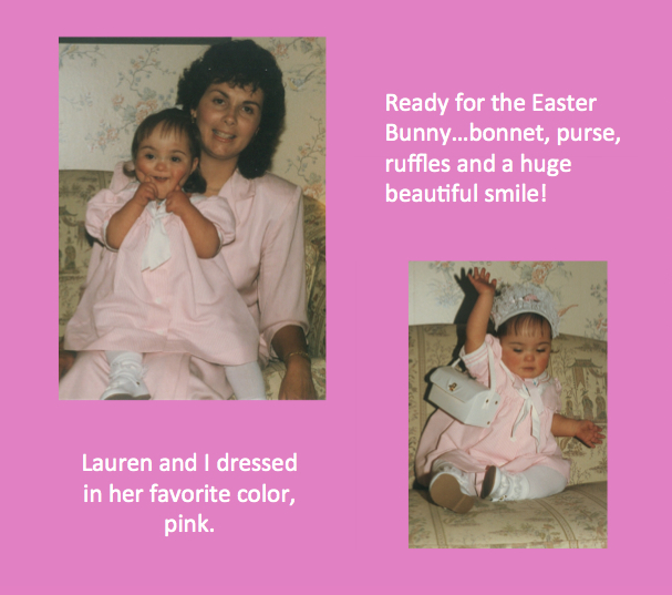 Lauren and Liz Barker Dressed for Easter