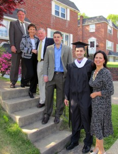 Author Liz Barker and Family at Univ Penn Graduation for Bryan 2013