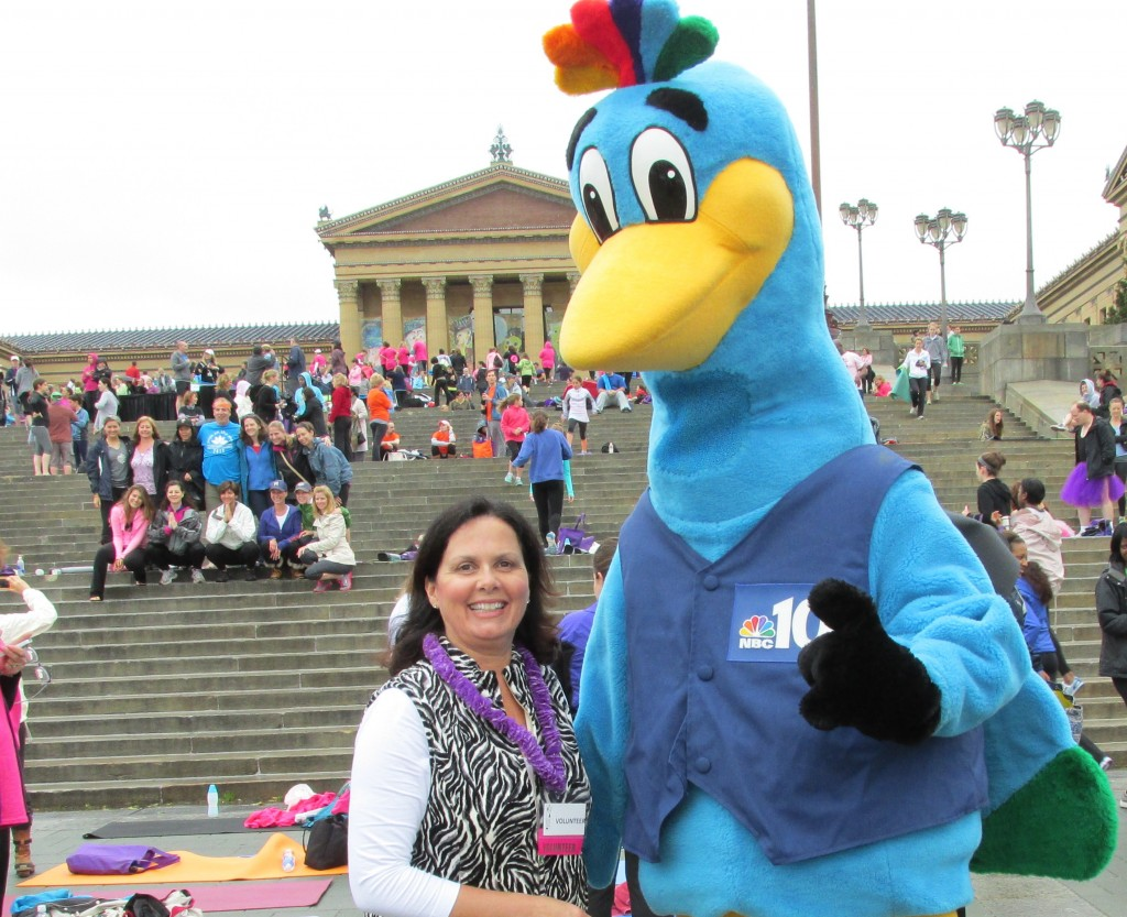 Elizabeth Barker with the NBC10 Peacock