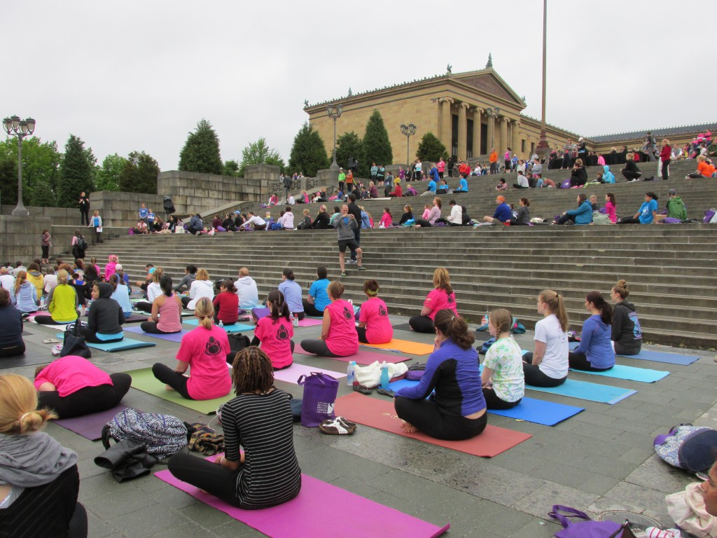 LBBC Yoga On the Steps - Liz Barker