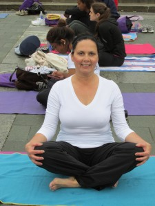 Author of Changed by Chance, Champion by Choice, Liz Barker at LBBC Yoga on Steps 2013