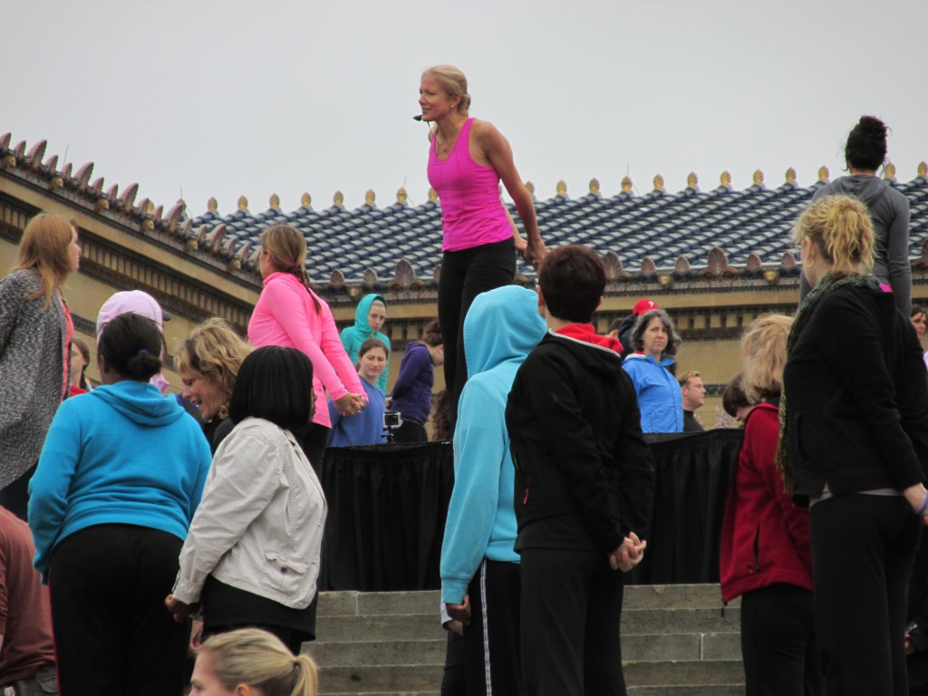 Jennifer Schelter at LBBC Yoga on Steps