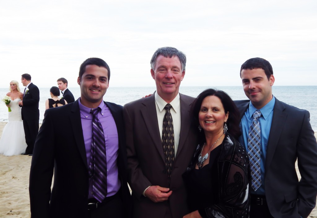 Elizabeth Barker and Family at Cape Cod Wedding