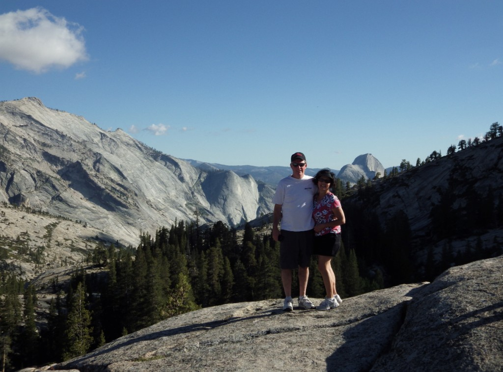 Author Liz Barker and husband Northern CA Mountains