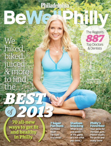 Jennifer Schelter on the Cover of Be Well Philly