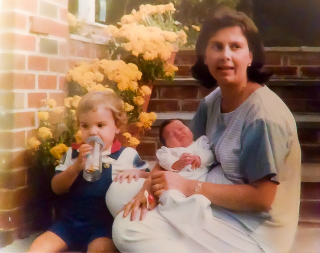 Liz Barker with Baby Bryan and James